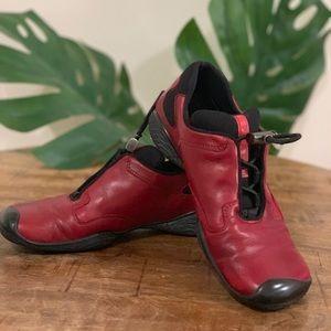 Prada vintage toggle leather shoes